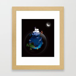 Big Beard Framed Art Print