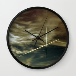 Sky over Munich - Oct. 18th 2014 - Two Planes Wall Clock