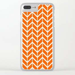 2019 Color Trends: Unapologetic Orange in Chevron Clear iPhone Case