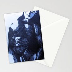 nude male blue Stationery Cards