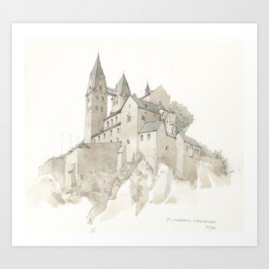 St. Lubentius Dietkirchen Art Print