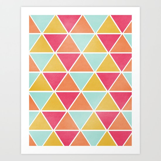 THE BRIGHTEST TRIANGLES Art Print