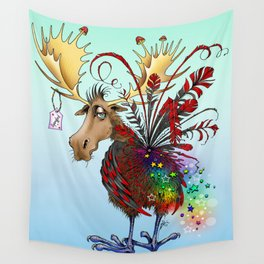 Lesser Spotted Spangle Moose Wall Tapestry