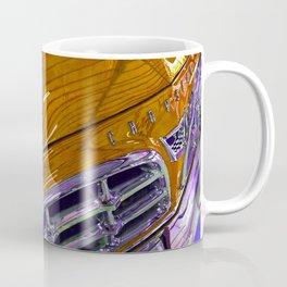 1955 Vintage Chrysler 300 Car Art Painting - Tangerine Coffee Mug