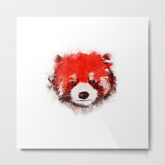 Red Panda (White) Metal Print