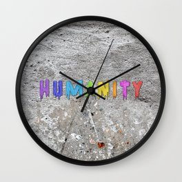Humanity Paint Wall Clock