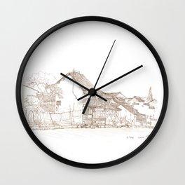 Xitang.China.River Village Wall Clock