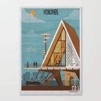 babina Canvas Prints featuring ARCHINOWHERE 06_study by federico babina