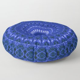 Dark blue mandala Floor Pillow
