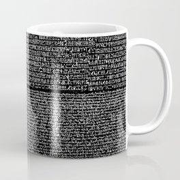 The Rosetta Stone // Black Coffee Mug