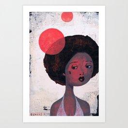 AFRO PSYCHE Art Print