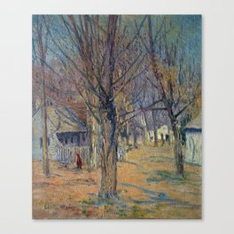 Julian Alden Weir Connecticut Village (Going to School) Canvas Print