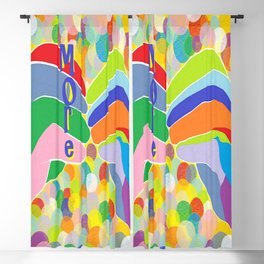 """ASL """"More"""" on a Bright Bubble Background Blackout Curtain"""