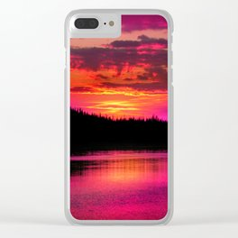 Magnificent Magenta Clear iPhone Case