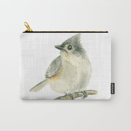 Tit bird, watercolor painting Carry-All Pouch