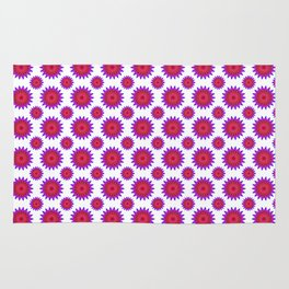 Pink,red and fuchsia color mandala Rug