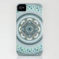 Blue Mandala Slim Case iPhone (4, 4s)