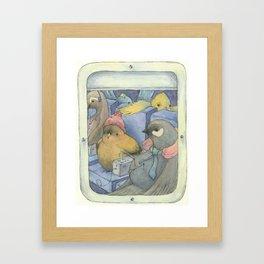 Flying Coach Framed Art Print