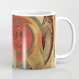 Sun and life portrait by Frida Kahlo Coffee Mug
