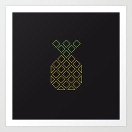 Geometric pineapple Art Print