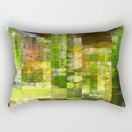 Cactus Garden Abstract Circle Sections 2 Rectangular Pillow