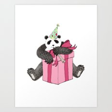 Birthday Panda Art Print