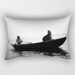 In search of peace, Varanasi. INDIA Rectangular Pillow