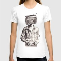 radio T-shirts featuring Radio-Head by KatePowellArt