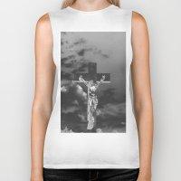 christ Biker Tanks featuring Jesus Christ by Kook Berry