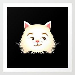 Smirking Cat Art Print