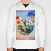 sia Hoodies featuring The gardener of the moon by Joe Ganech