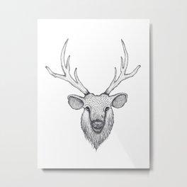Stag monochrome Metal Print