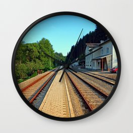 Haslach railway station | architectural photography Wall Clock
