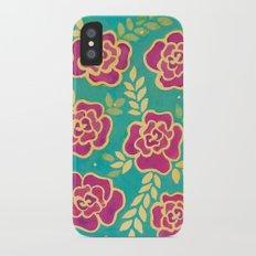 Watercolour Roses Slim Case iPhone X
