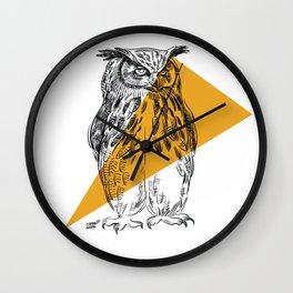 UHU - Eurasian Eagle Owl (Bubo bubo) Wall Clock