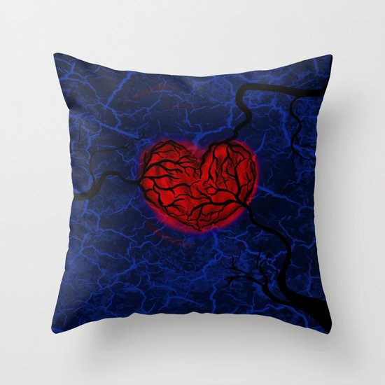 Overgrown Heart Throw Pillow