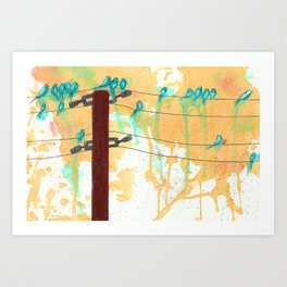 Birds on the Line Art Print