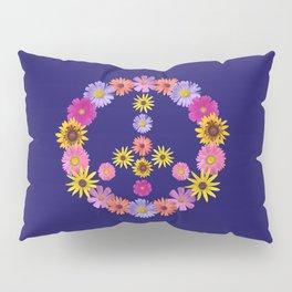 Flower Peace Sign Pillow Sham