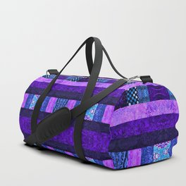 Quilt Top - Deep Purple Duffle Bag