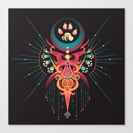 DreamCatcher-Wolf Spirit Canvas Print