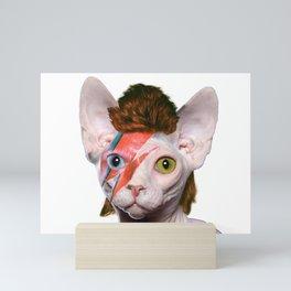 Bowie Cat Mini Art Print