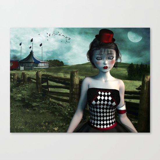 Leaving the circus Canvas Print