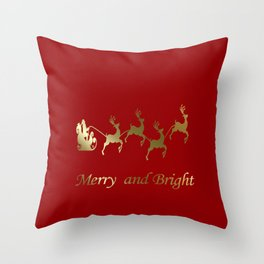 Merry and Bright Night Throw Pillow