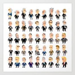 45 Presidents of the U.S.A. Art Print