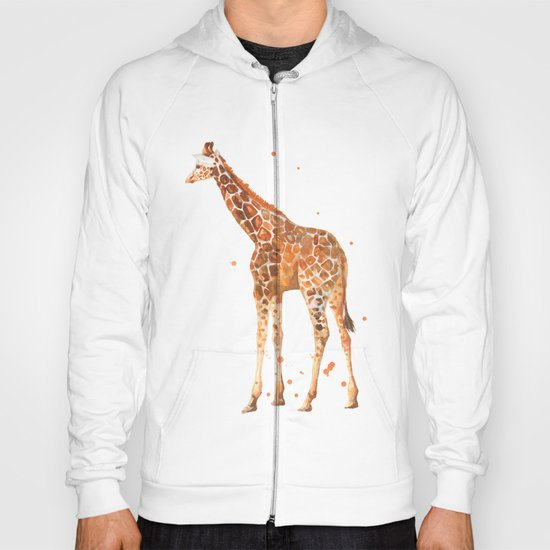 giraffe, african animals, wildlife, cute baby giraffe, nursery animals, safari Hoody