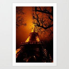 Dark Paris Art Print