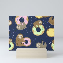Sloths x Donuts Mini Art Print