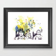 Ghostbusters Peter Venkman, Egon Spengler, Raymond Stantz Framed Art Print