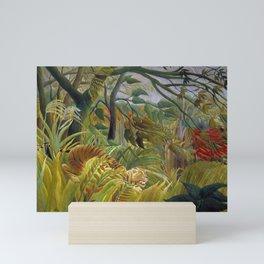 "Henri Rousseau,"" Tiger in a Tropical Storm (Surprised!) "" Mini Art Print"