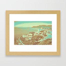 Santorini Greek Island Caldera, Greece 7 Framed Art Print